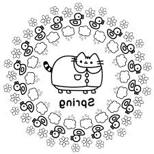Free Pusheen Coloring Pages For Girls Coloring Page 4 Kids