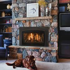 the kozy heat chaska 29mv gas fireplace insert can be ordered with either a rock set