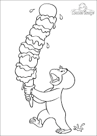 curious george coloring page curious coloring pages ice cream curious george coloring pages