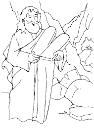 Small Picture Ten Commandments Coloring Page