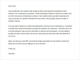Letter Of Reference Example Template Stunning Sample Letter Of Reference Request Template Word Format Employment