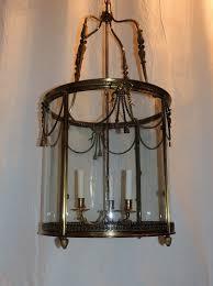 ch814 large french louis xvi gilt bronze ribbon bow lantern chandelier