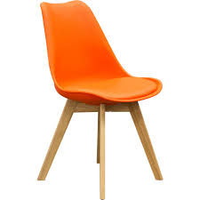 diamond sofa codachor coda retro inspired dining chairs in orange