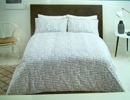 sainsburys shibori dash duvet cover 2 pillow superking 180 tc bed linen new