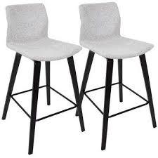 mid century modern stools. Cabo Mid-Century Modern Espresso And Light Grey Fabric Counter Stool (Set Of 2 Mid Century Stools