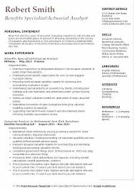 Actuary Resume Sample Actuarial Actuary Resume Sample Entry Level