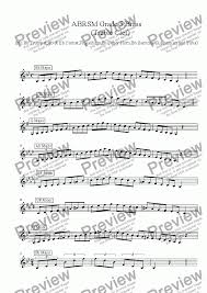 Brass Treble Clef Grade 5 Scales Arpeggios Abrsm Format For Solo Instrument Trumpet In Bb By Ray Thompson Sheet Music Pdf File To Download