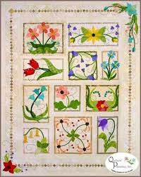 17 Best images about Quilts- Garden on Pinterest | Gardens, Nancy ... & Beautiful flower quilt. I saw this made up at Common Threads Quilt Shop in  Waxahachie Adamdwight.com