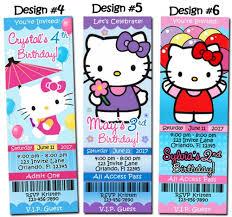 Hello Kitty Party Invitation Hello Kitty Birthday Party Invitations Ticket Custom Charmmy