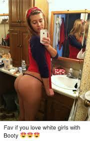 White girl got booty