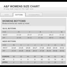 Abercrombie Womens Size Chart Abercrombie Fitch Tan Khaki Cargo Shorts