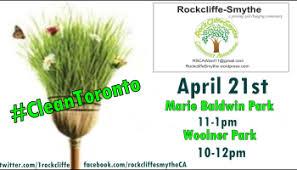 CleanToronto-April 22 -6 Locations!   Rockcliffe -Smythe Community