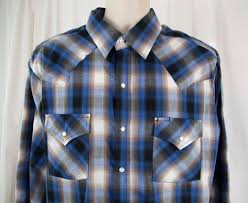 Ely Cattleman Shirt Western Rockabilly Pearl Snap Size Xl