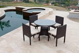 rodondo modern outdoor round dining set
