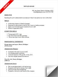 skills for administrative assistant resumes administrative assistant resume sample limeresumes