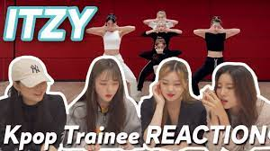 YOURS - eng) K-pop Trainee REACTION to ITZY - 'Not Shy' Stage Practice |  연습생 안무영상 리액션