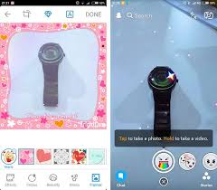 brightcam is facebook s selfie cam left snapchat right allows you to add filters to your photos androidpit