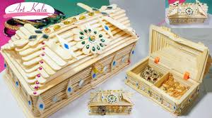 how to make jewelry box popsicle stick crafts diy artkala you