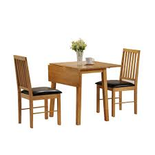 ideal small dining room spaces with drop leaf dining table sets and 2 wood dining chairs