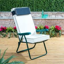image is loading garden recliner chair green folding adjule frame with