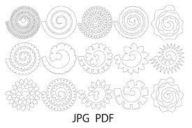 Paper Flower Cricut Template Rolled Paper Flower Templates Svg 3d Rose Svg Origami Rose