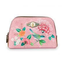 pip studio good morning fl pink cosmetic makeup bag small