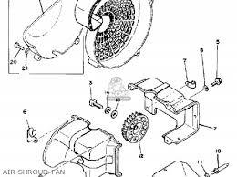 yamaha g1 a g1 a1 golf car 1979 1980 parts lists and schematics air shroud fan