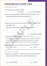7 Sample Incident Report Form Job Resumes Word