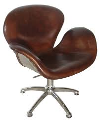 brown leather office chairs. Brown Leather Office Chair From Noir Furniture Chairs I