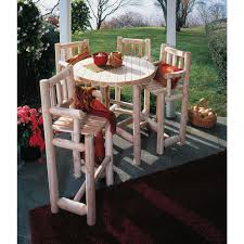 Kitchen Furniture Company Rustic Natural Cedar Furniture Companyar 5 Pc Bistro Set