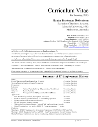 Sample Resume Monash University Resume For Study