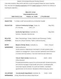 Nursing Student Resume Format Template Latest Templates Word