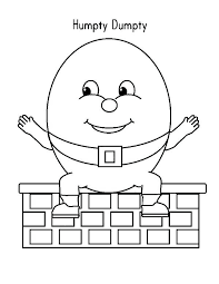 Humpty Dumpty Coloring Spread His Hand Wide Coloring Pages In