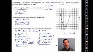 common core algebra i unit 9 lesson 5 finding zeroes by completing the square by emathinstruction