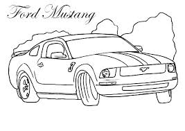 Mustang Coloring Pictures Carriembeckerme