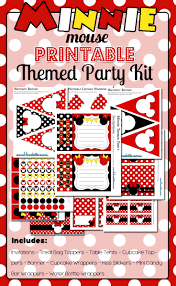 Free Minnie Mouse Birthday Invitations Minnie Mouse Party Printable Kit Red Free