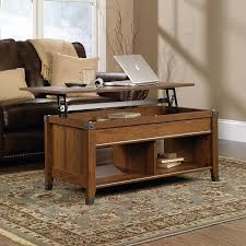 sauder carson forge collection washington cherry rectangle lift top coffee table 414444 at the home depot mobile