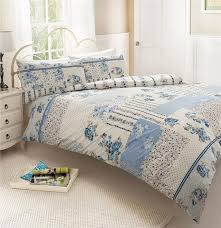 classic blue rose patchwork superking duvet set quilt