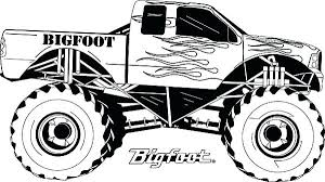 Small Picture Monster Truck Coloring Pages Grave Digger Colouring Printable Free