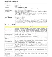 Resume Example Android Developer Examples Sample Download Senior