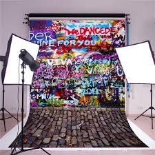 susu 7x5ft digital printing photography backdrops colorful brick background fantasy graffiti pattern brick floor backdrop for holiday party graffiti wall