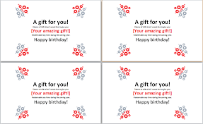 Word Templates For Gift Certificates Word Template Birthday Gift Certificate Gift Ideas