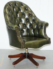 green leather office chair. HARRODS CHESTERFIELD DIRECTORS GREEN LEATHER EXECUTIVE CAPTAINS OFFICE CHAIR Green Leather Office Chair