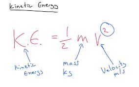 kinetic energy equation example igcse physics