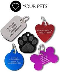 Amazon.com: Love Your Pets Pet ID Tags - 2-Sided Engraved Stainless Steel Dog  Tags with Tracking - Made in The USA - 48 Different Choices - Dog Tags, Cat  Tags & Pet Tags: Office Products