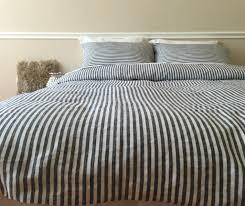 striped duvet cover handmade in natural linen superior custom with regard to new residence pinstripe duvet cover ideas