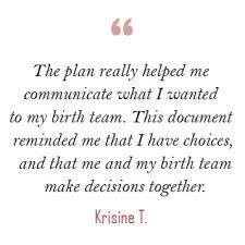 Birth Plan Choices Visual Birth Plan