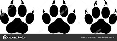 Kočičí Tlapka Tlapka Kočka Nálepku Logo Stock Vektor Waldemar