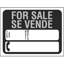 auto for sale sign hy ko products 3072 plastic bilingual auto for sale sign pack of 10