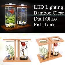 office fish tank. Image Is Loading LED-Light-Dual-Clear-Glass-Fish-Tank-Betta- Office Fish Tank E